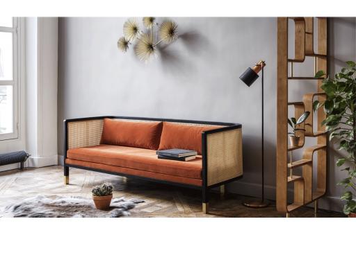 Red Edition Wicker Sofa