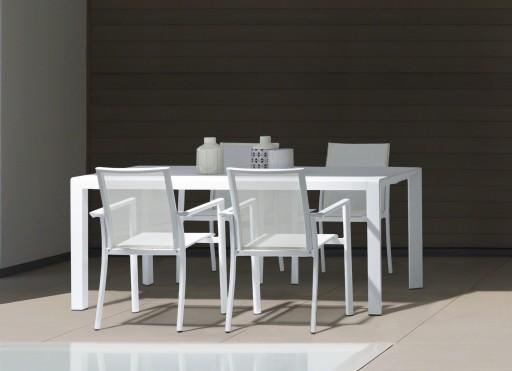Set scaun Konnor si masa Kirby culoare alb