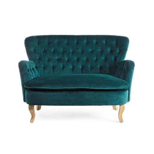 Canapea cu 2 locuri Orlins Dark Green