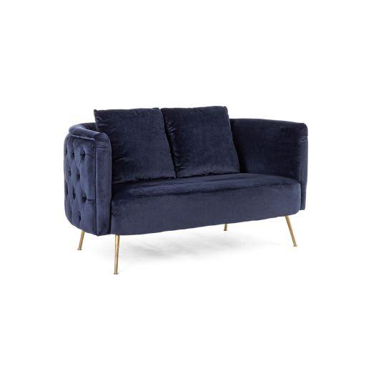 Canapea 2 locuri Tenbury Blue