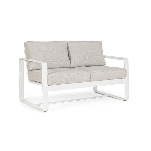 Canapea cu 2 locuri Marrigan Alb