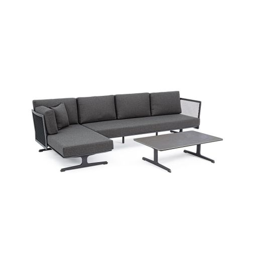 Set mobilier de exterior Althea Charcoal