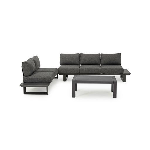 Set mobilier de exterior Konnor Charcoal