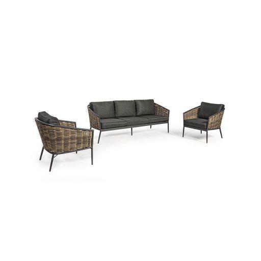 Set mobilier de exterior Maribela Charcoal
