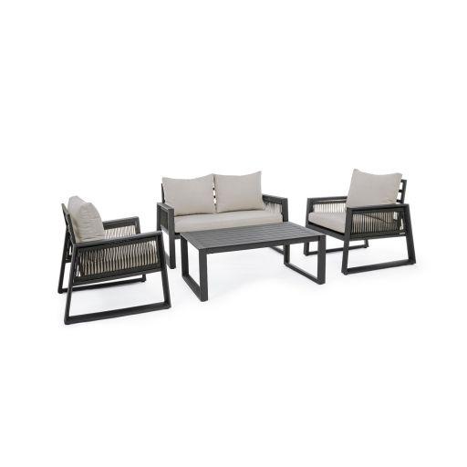 Set mobilier de exterior Captiva Charcoal